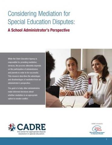 CADRE Considering Mediation Cover Page
