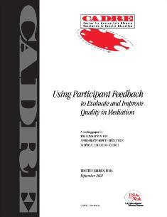 Using Participant Feedback - cover