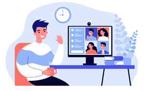 Virtual Meeting Illustration